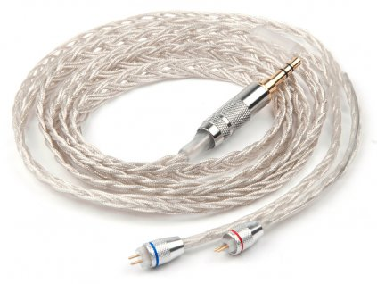 stribrny nahradni vylepsujici upgrade kabel pro sluchatka do usi kz zs5 zs6 zs3