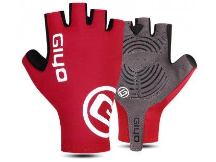 cervene cyklisticke rukavice na kolo cervena giyo s02 s gelem gelove
