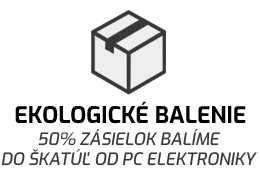 Kvalitne zabalená slúchadlá v pevnej recyklované krabici
