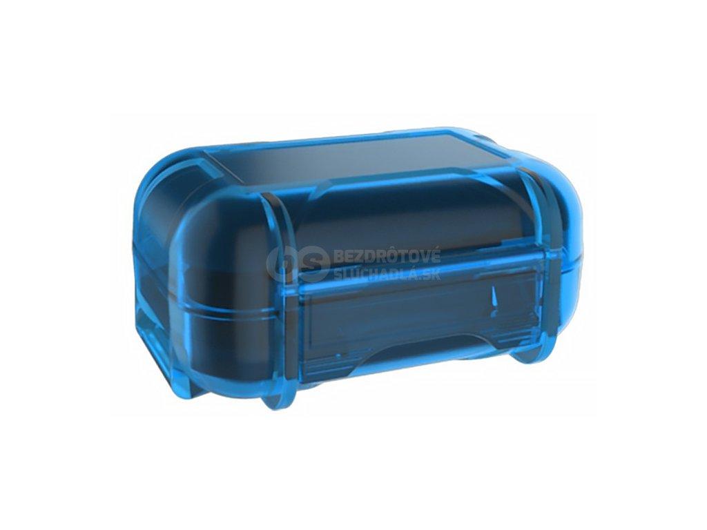 modre vodotesné puzdro na sluchatka do usi kz abs b 036
