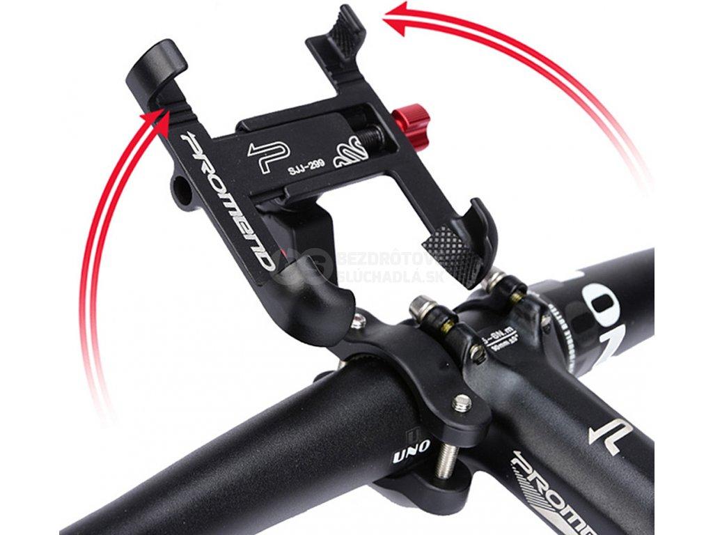 hliníkový držiak mobilu na bicykel promend sjj299