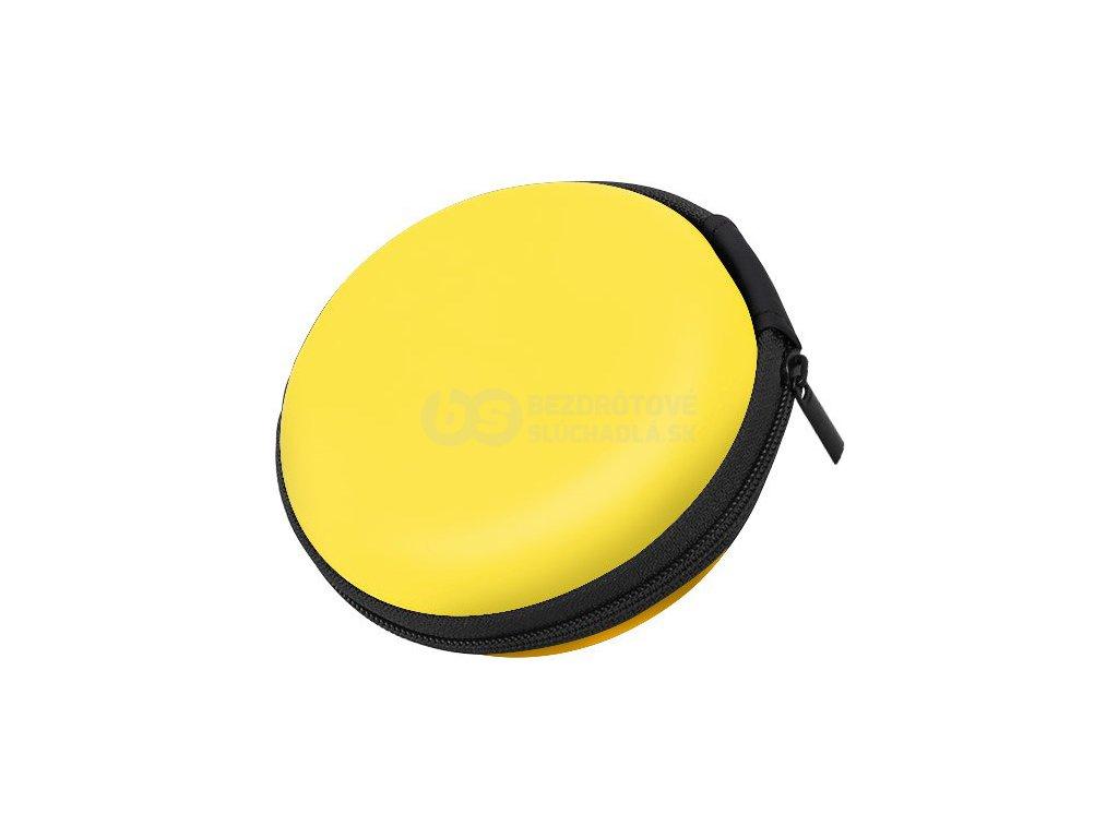 guľaté puzdro na štupľové slúchadlá žltá žltá aiovcocie ku12