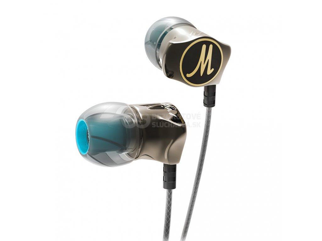Luxusné slúchadlá so super basy qkz DM7 zo zliatiny zinku