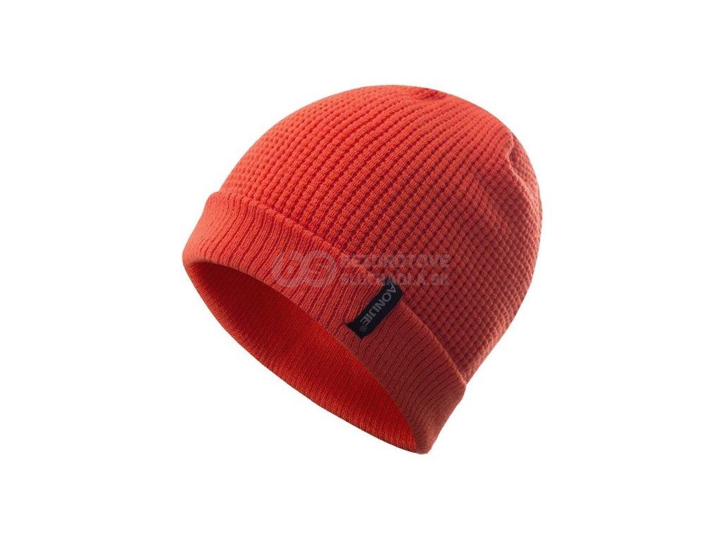 oranzova zimná čiapka sportovni aonijie M27