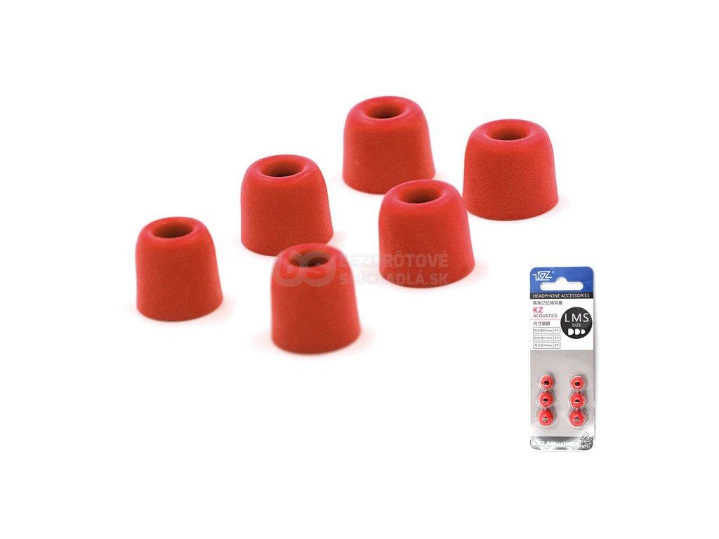 cervene štuple do slúchadiel nahradne nástavca pamäťová pena