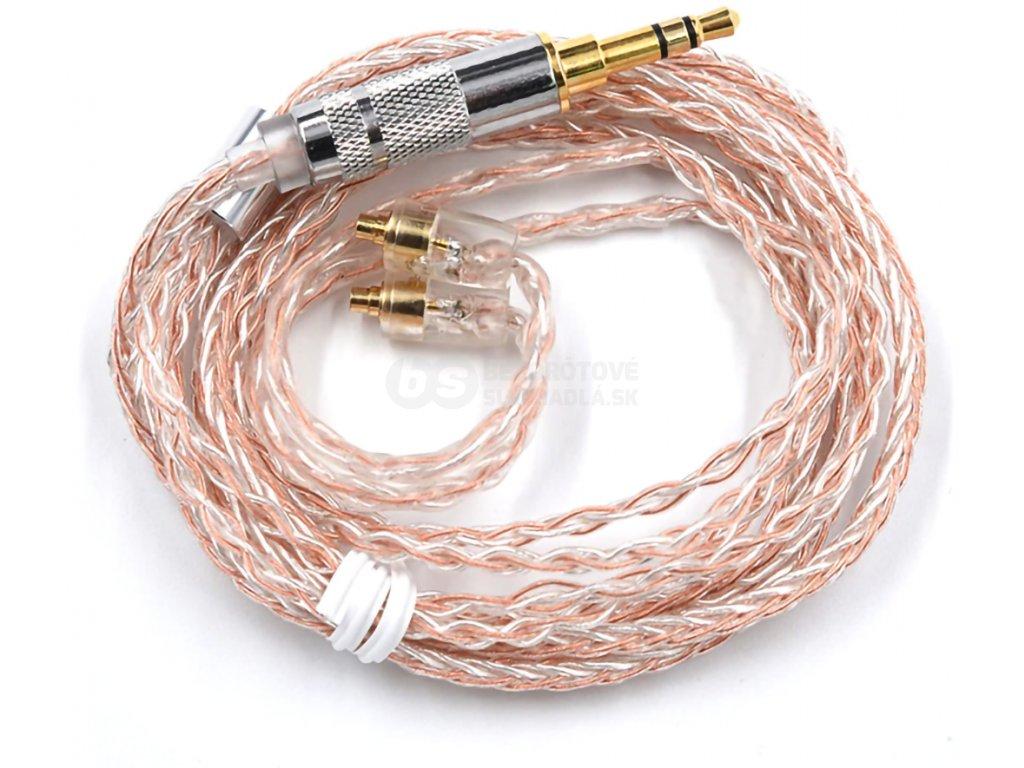 mmcx kabel pro sluchatka copper silver