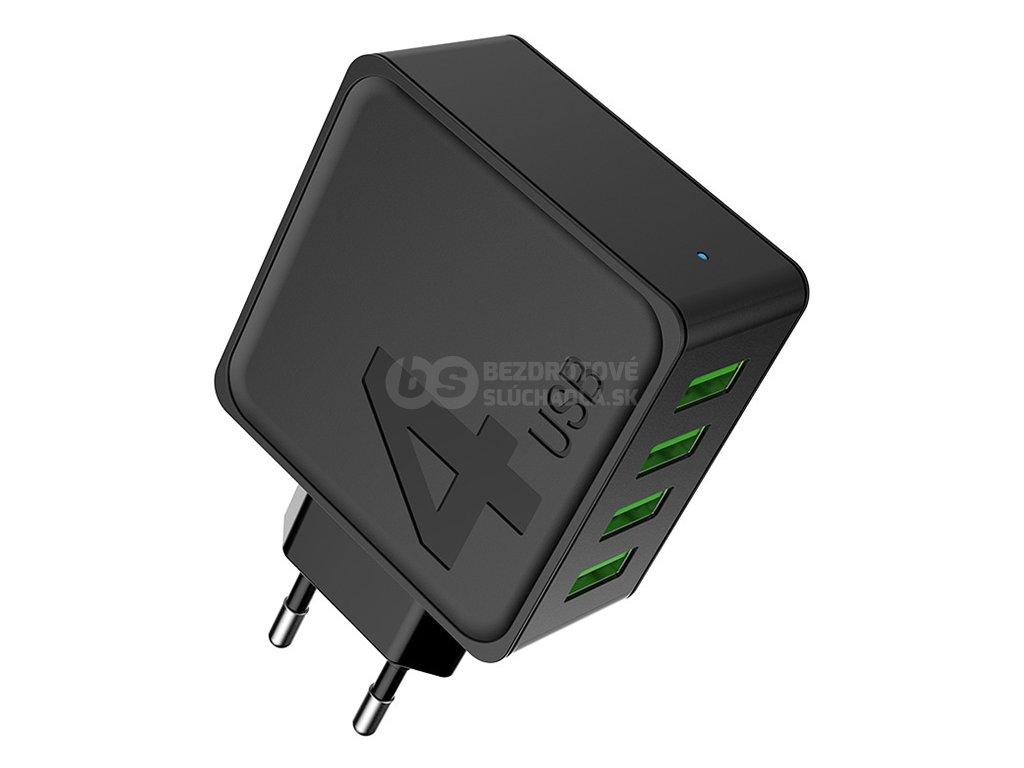 USB nabíjačka do zasuvky na 4 zariadeni štyroch portový awei c842