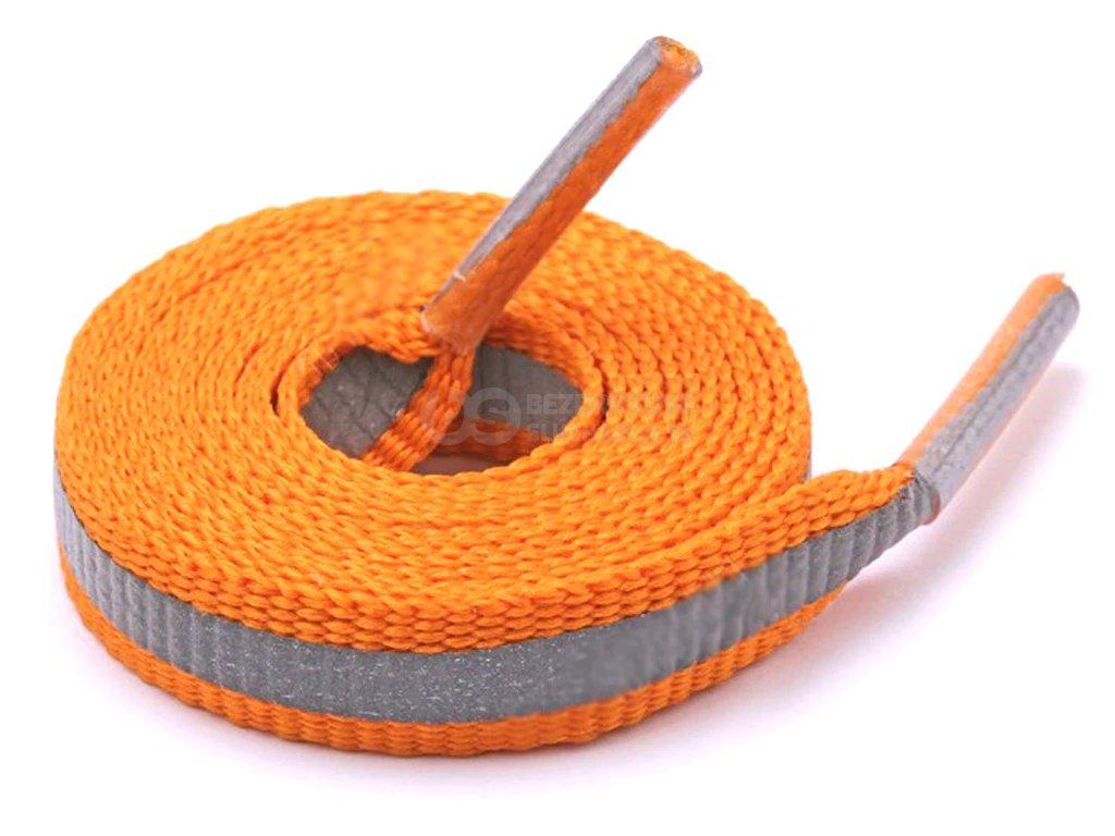 reflexívne šnúrky do topánok sportove vyrazne oranzova plôch umožní runner RR1