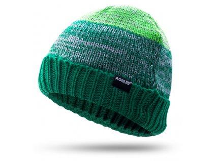 zelena Čiapky zimné beanie aoniji M25
