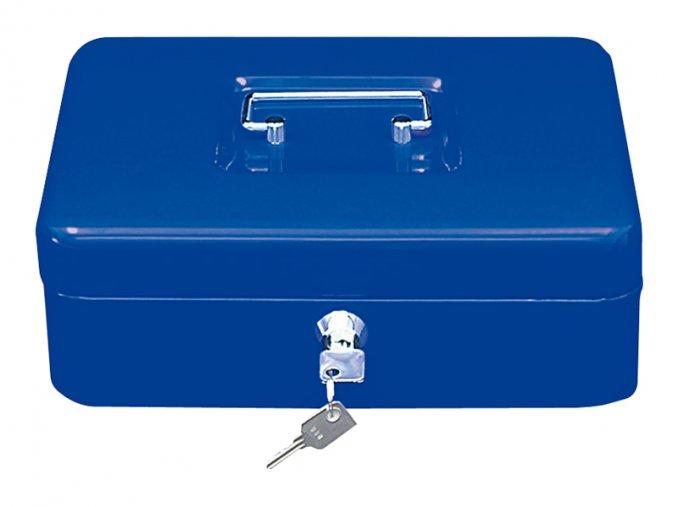 Přenosná pokladna WEDO 300, modrá  Přenosná uzamykatelná pokladna