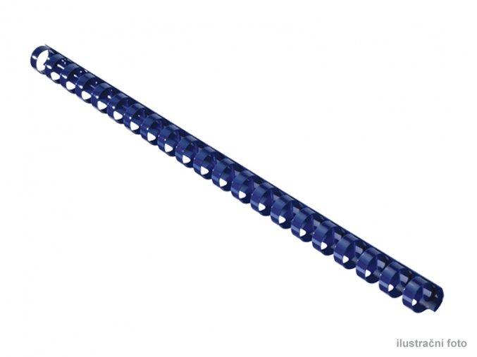 "Kroužkové plastové hřbety GBC, 9/16"", 14mm, modré  Kroužkové plastové hřbety"