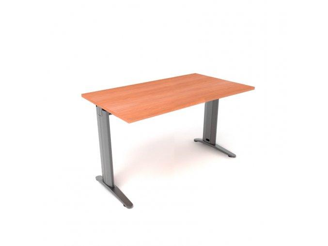 Psací stůl 140x75 kovová konstrukce