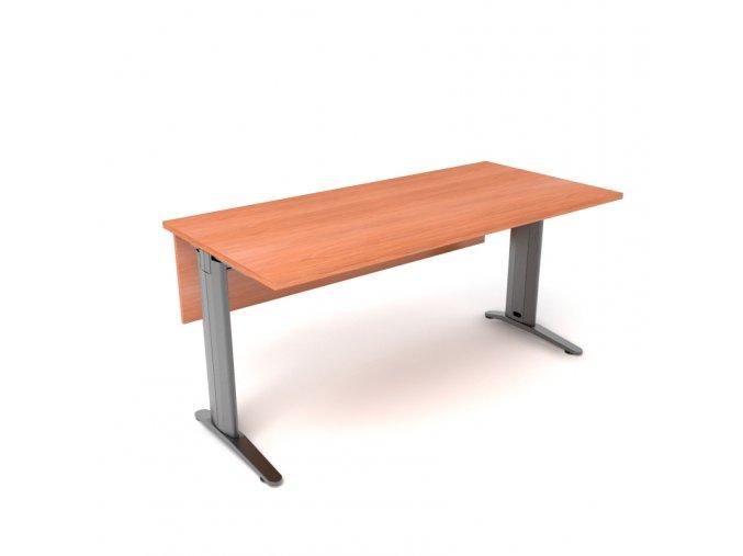 Psací stůl 100x75 kovová konstrukce s krycí deskou