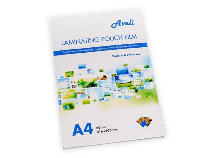 Laminovací fólie AVELI A4/160mic (2x80), lesklé