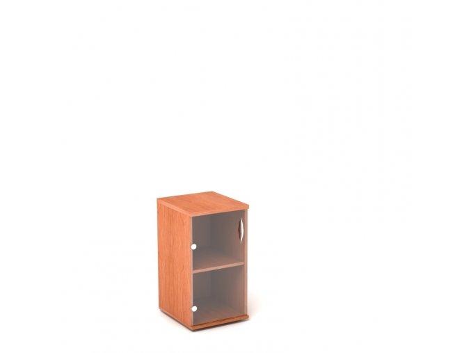 Přístavná skříň 40x60/76 2 patra skleněná dvířka - levá