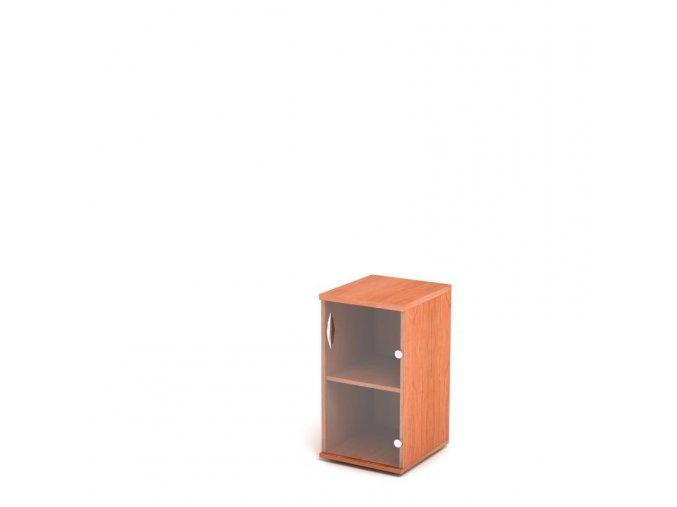 Přístavná skříň 40x60/76 2 patra skleněná dvířka - pravá