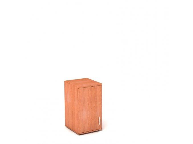 Nástavbová skříň 40x45/76 2 patra plná dvířka - levá