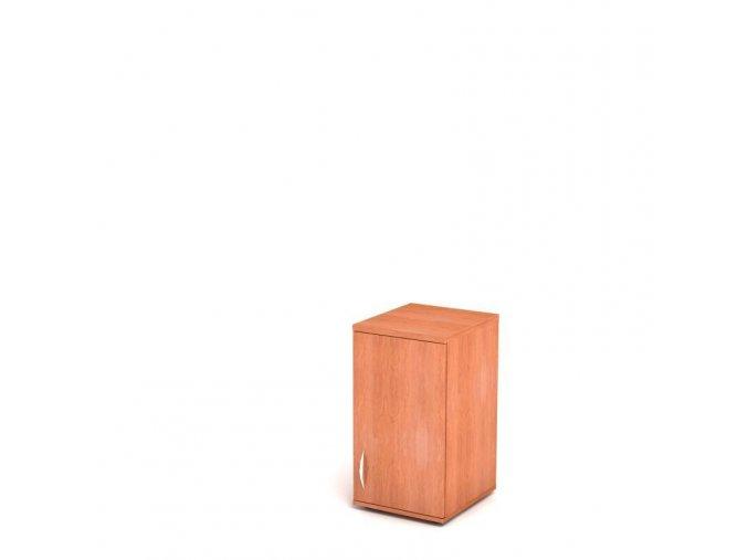 Nástavbová skříň 40x45/76 2 patra plná dvířka - pravá