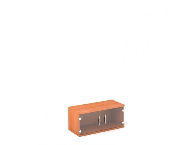 Nástěnná skříň 80x35/39 1 patro skleněná dvířka