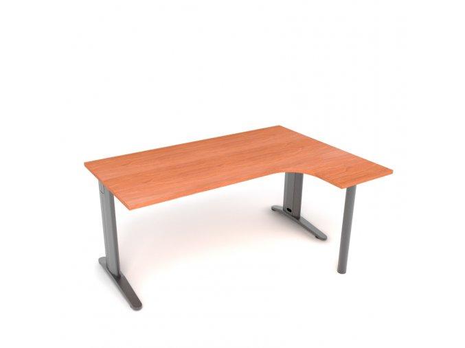 Kancelářský rohový stůl 160x75x45 pravý kovová konstrukce