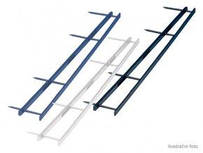 Hřebenové hřbety GBC VELOBINDER, 45mm,25ks,bílé  Hřebenové hřbety se čtyřmi trny