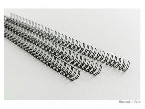 Drátěné hřbety GBC 9/16, A4/100 ks, 6 mm, černé  Kroužkové drátěné hřbety
