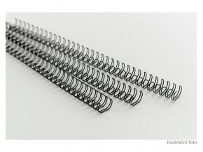 Drátěné hřbety GBC, 3:1, A4/100 ks, 12 mm, černé  Kroužkové drátěné hřbety
