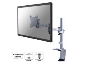 """NewStar Flat stolní držák na PC monitor 10-30""""  na svorku nebo průchodku, stříbrný"""