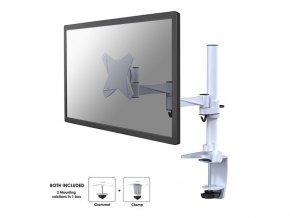 """NewStar Flat stolní držák na PC monitor 10-30""""  na svorku nebo průchodku, bílý"""
