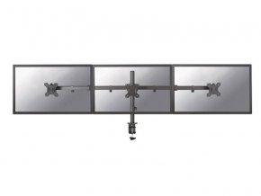 """NewStar Flat Screen držák na 3 PC monitory 10-27""""  na svorku nebo průchodku, černý"""