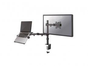 """NewStar Flat stolní držák na PC monitor 10-32""""  na svorku nebo průchodku, černý"""