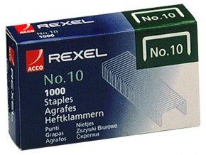 Drátky do sešívaček REXEL No.10, 1000 kusů