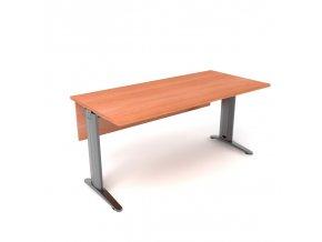 Psací stůl 140x75 kovová konstrukce s krycí deskou