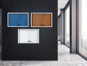 Vitrína AVELI informační modrá, 21xA4  Vnitřní vitrína