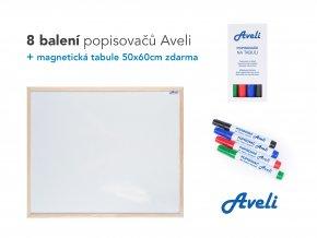 Popisovače AVELI, barevný mix+dárek