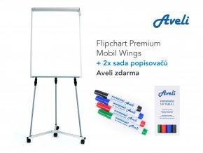 Flipchart AVELI PREMIUM MOBIL WINGS + dárek