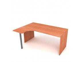 Kancelářský rohový stůl 160x75x60 levý lamino podnož