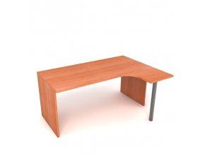 Kancelářský rohový stůl 160x75x60 pravý lamino podnož