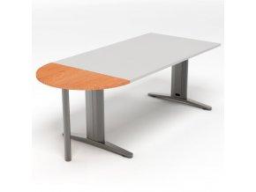 Přístavný jednací stůl s kovovou nohou 45x90 1/2 kruh