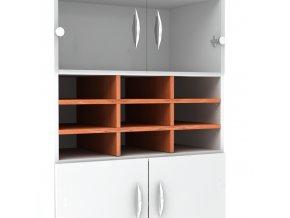 Vložná police do kancelářské skříně š. 80 cm hl. 45 mm