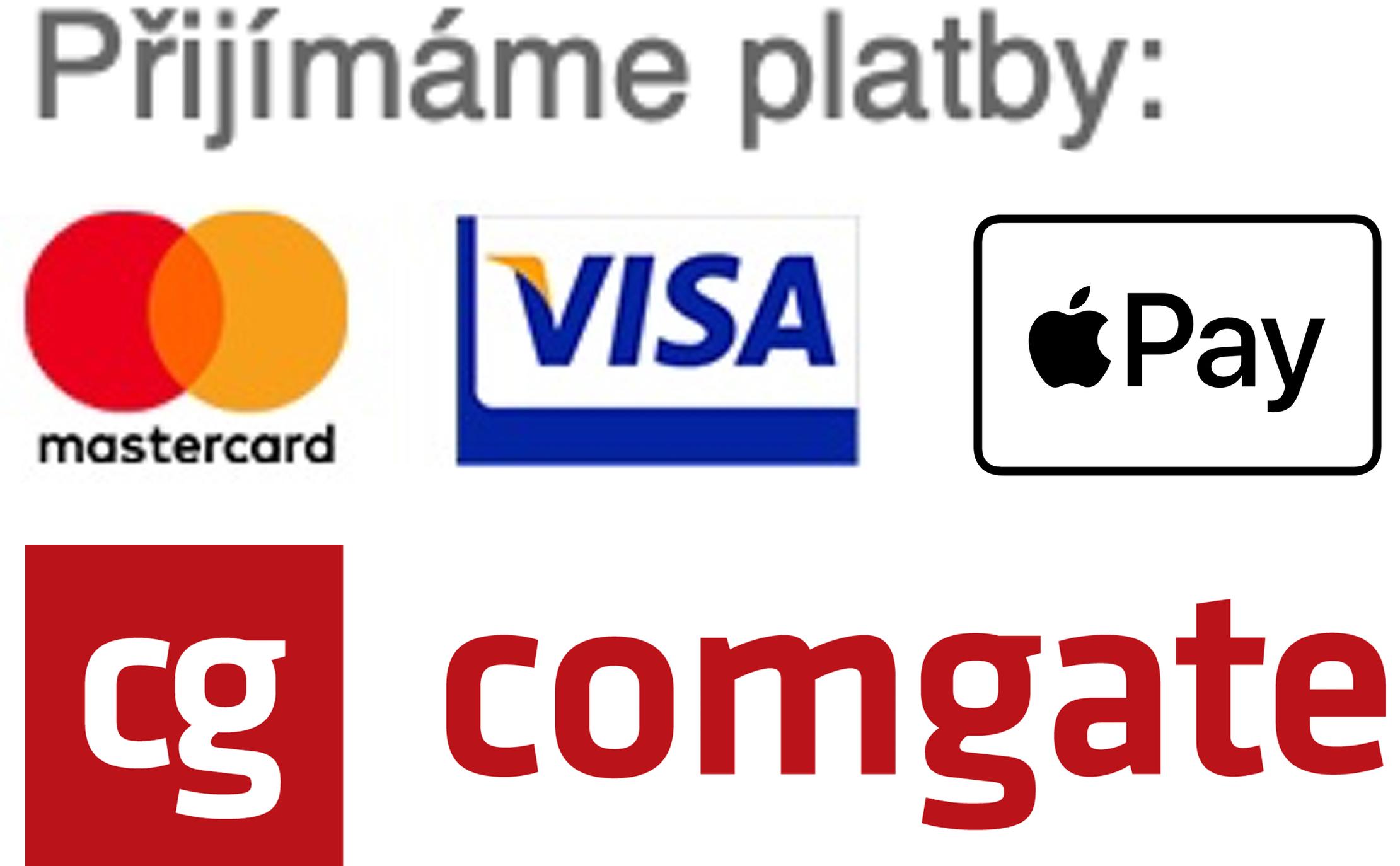 Přijímáme platby kartou i Apple Pay