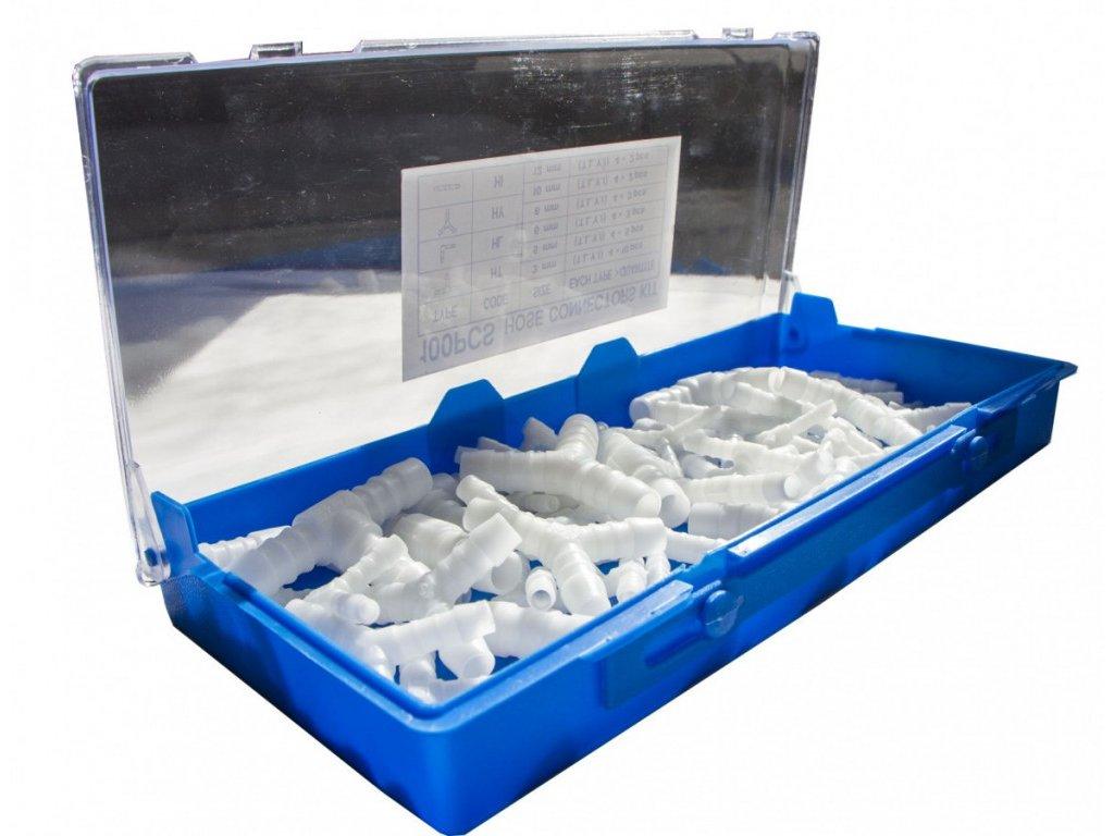 Plastové hadicové spojky 100 ks (bílé) - C161001