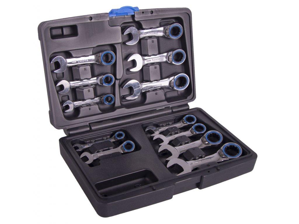 Sada krátkých kompaktních oboustranných klíčů 12 ks - LI20MK