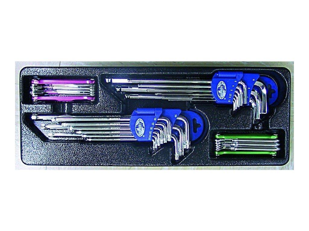 TORX a IMBUS klíče, 33 dílů ve výplni do dílenského vozíku - LIACK384008