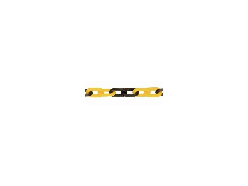 Plastový žlutočerný řetěz - PTS06žč