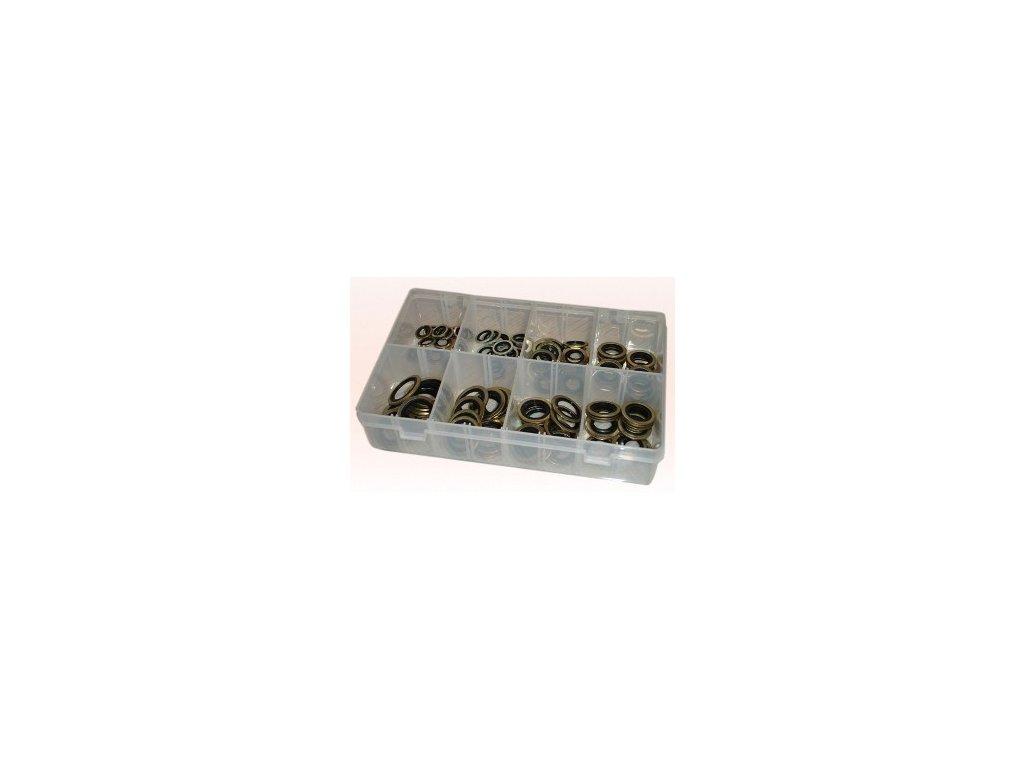 Sada ocelových/gumových těsnících kroužků 110 ks - GE314