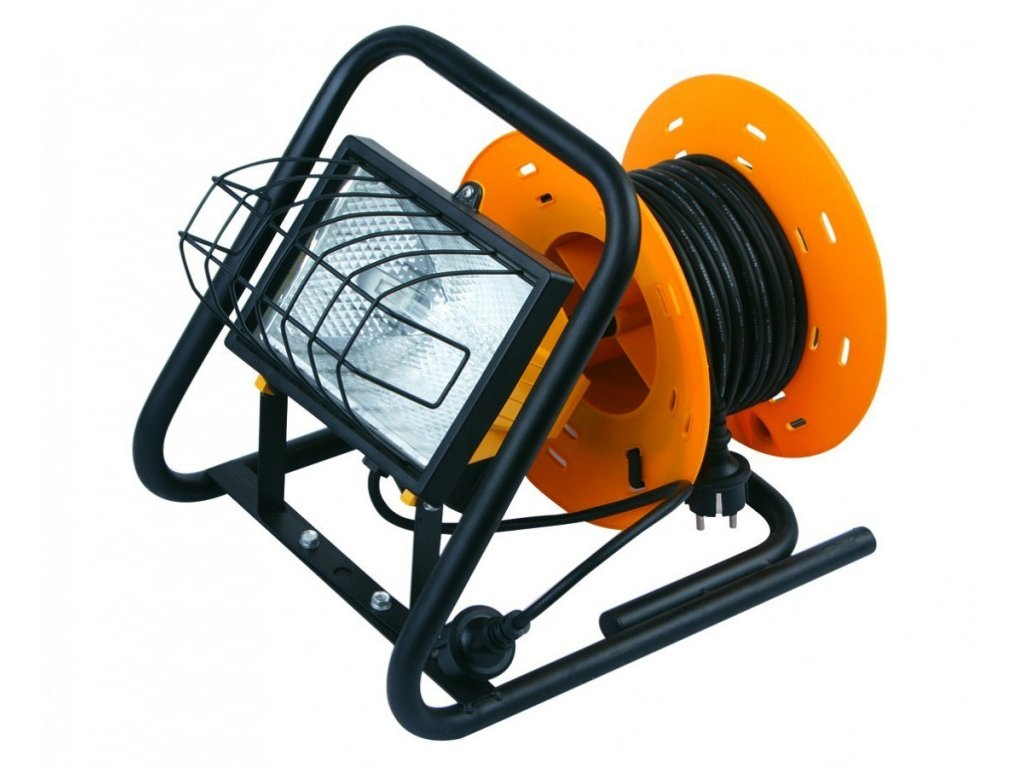Lampa s kabelovým navijákem 20 m - 500 W - K1406