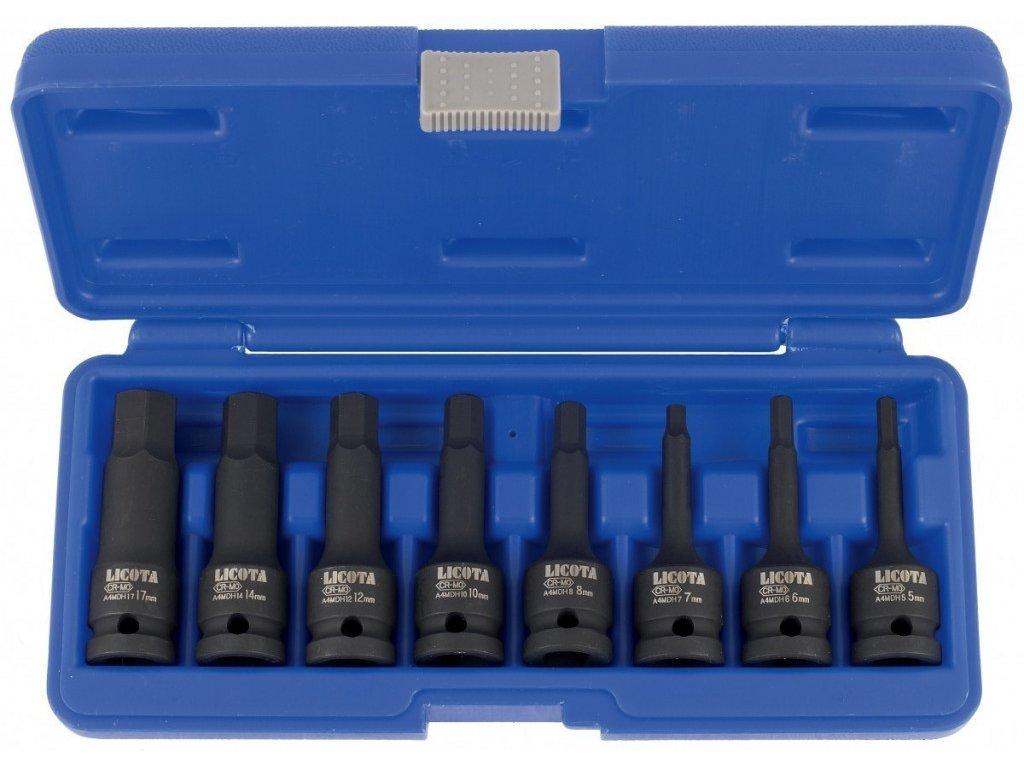 """Sada vnějších nástrčných klíčů HEX 1/2"""" sada 8ks - Liasa40001"""