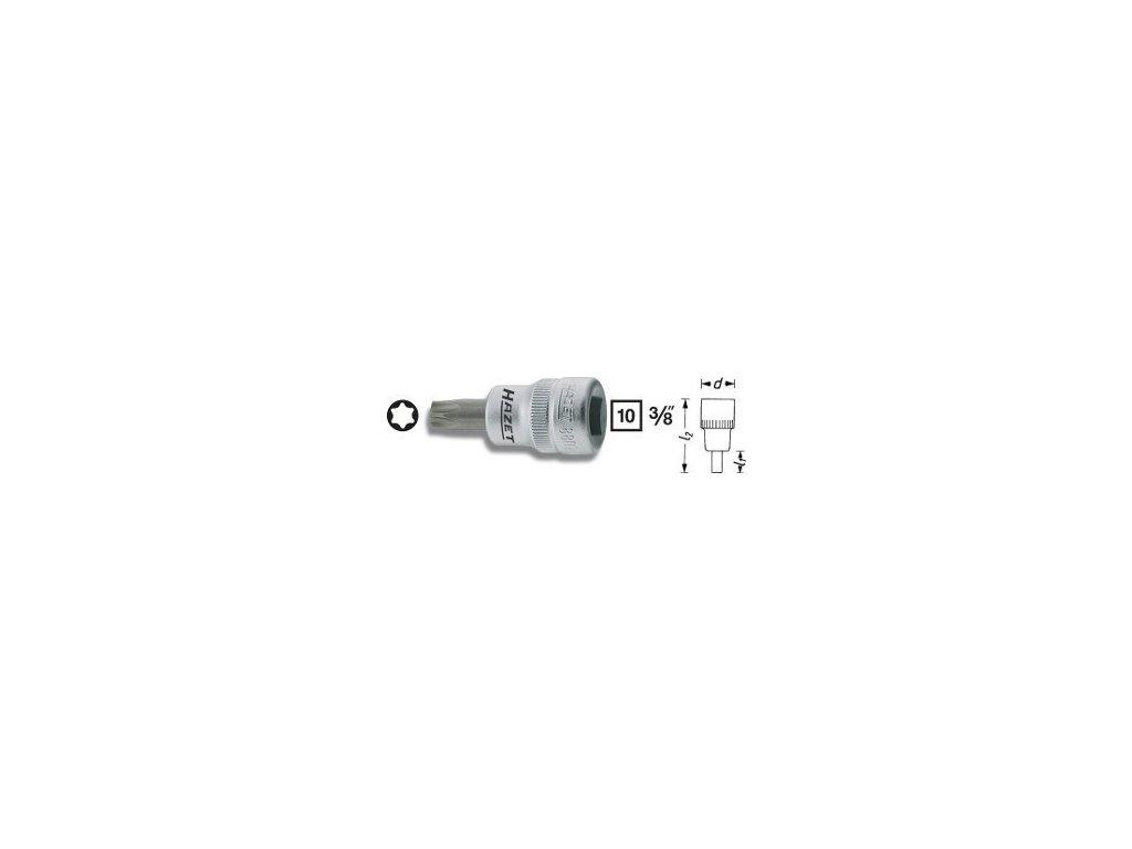 """Hlavice s bitem TORX 3/8"""" T40 HAZET 8802-T40 - HA039708"""