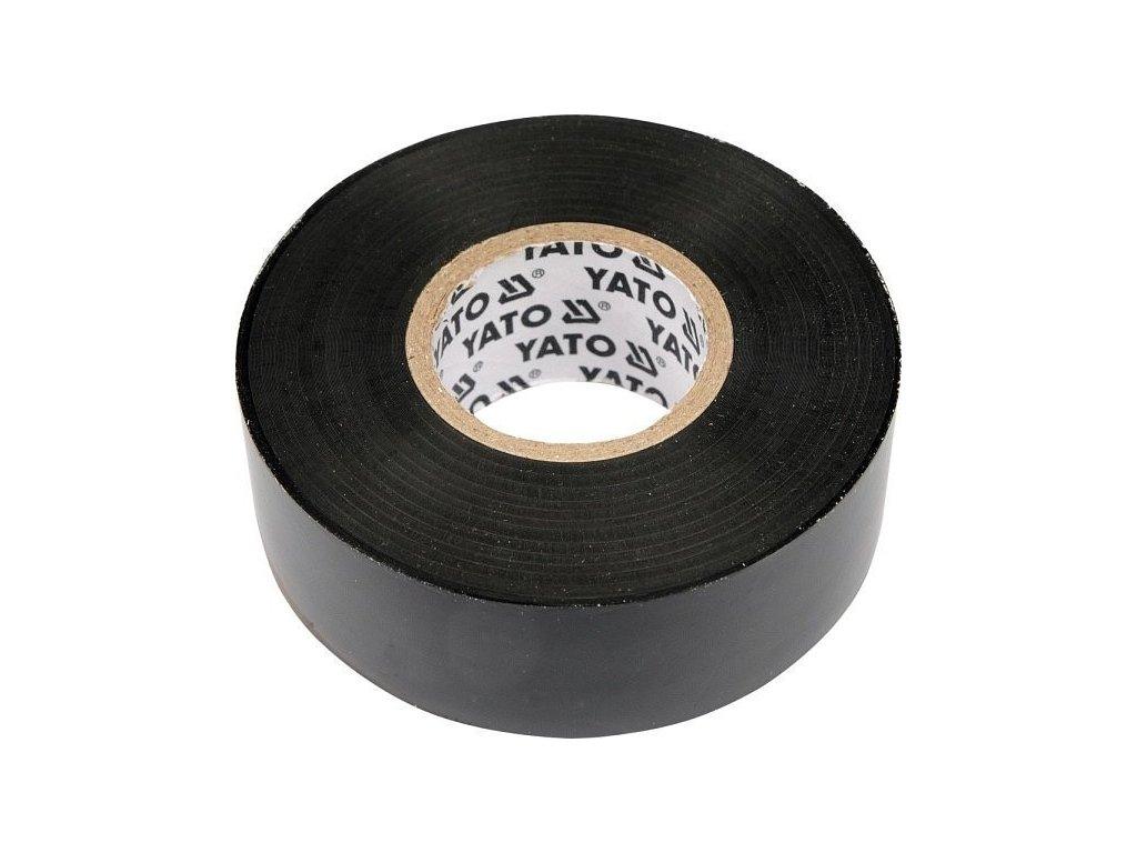 Páska izolační 12 x 0,13 mm x 10 m černá - YT-8152